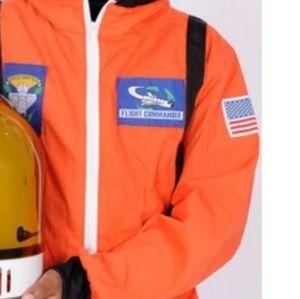 Orange astronaut costume with hat